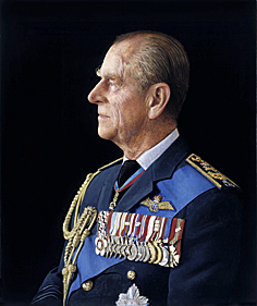 PRINT - Fine Art Reproduction of HRH The Duke of Edinburgh by Royal Portrait Painter Richard Stone - D2/RS